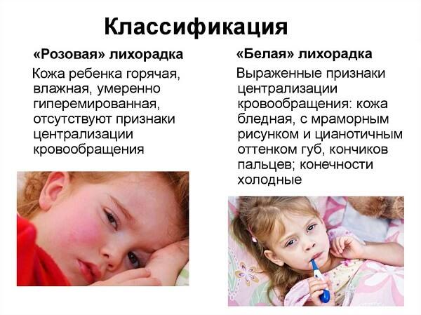Классификация белой и розовой лихорадки